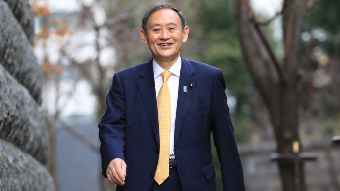 japan, prime minister of japan, yoshihide suga
