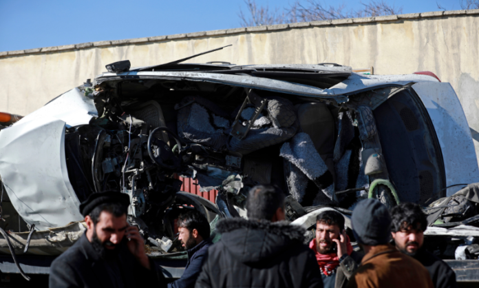 A Group of doctors hit by a car bomb in Afghanistan, 5 killed