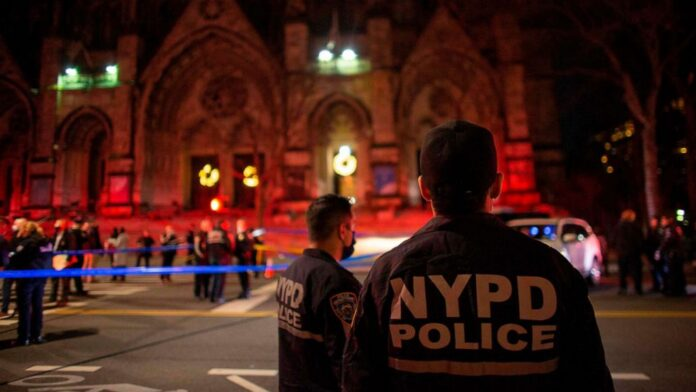 shooting at outside of St John the Divine Cathedral
