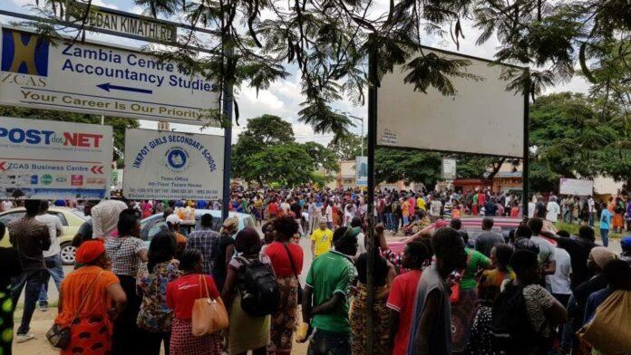 zambia demonstration